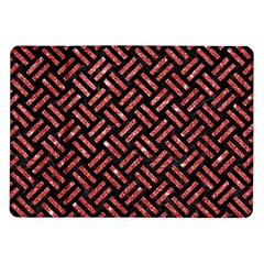 Woven2 Black Marble & Red Glitter (r)woven2 Black Marble & Red Glitter (r) Samsung Galaxy Tab 10 1  P7500 Flip Case by trendistuff