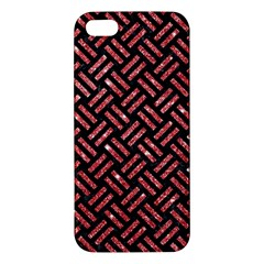 Woven2 Black Marble & Red Glitter (r)woven2 Black Marble & Red Glitter (r) Iphone 5s/ Se Premium Hardshell Case by trendistuff