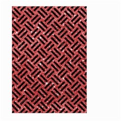 Woven2 Black Marble & Red Glitter Large Garden Flag (two Sides)
