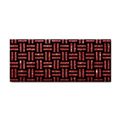 Woven1 Black Marble & Red Glitter (r) Cosmetic Storage Cases by trendistuff