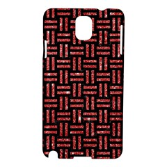 Woven1 Black Marble & Red Glitter (r) Samsung Galaxy Note 3 N9005 Hardshell Case by trendistuff