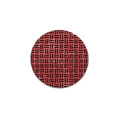 Woven1 Black Marble & Red Glitter Golf Ball Marker (4 Pack) by trendistuff