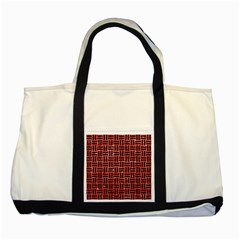 Woven1 Black Marble & Red Glitter Two Tone Tote Bag by trendistuff