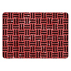 Woven1 Black Marble & Red Glitter Samsung Galaxy Tab 8 9  P7300 Flip Case by trendistuff