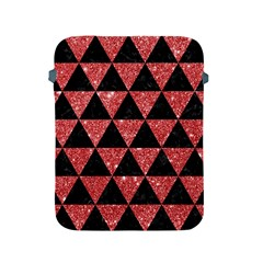 Triangle3 Black Marble & Red Glitter Apple Ipad 2/3/4 Protective Soft Cases by trendistuff