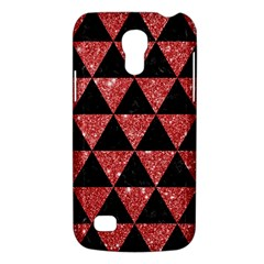 Triangle3 Black Marble & Red Glitter Galaxy S4 Mini by trendistuff