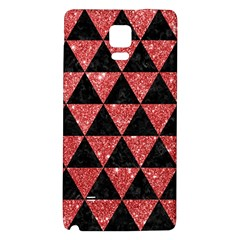 Triangle3 Black Marble & Red Glitter Galaxy Note 4 Back Case by trendistuff