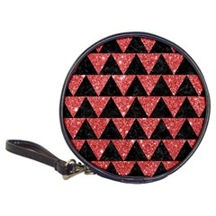 Triangle2 Black Marble & Red Glitter Classic 20 Cd Wallets by trendistuff