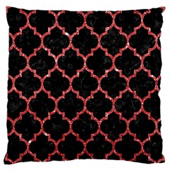 Tile1 Black Marble & Red Glitter (r) Large Cushion Case (two Sides) by trendistuff