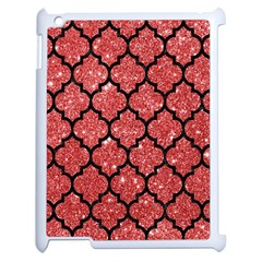 Tile1 Black Marble & Red Glitter Apple Ipad 2 Case (white) by trendistuff
