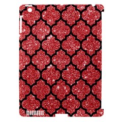 Tile1 Black Marble & Red Glitter Apple Ipad 3/4 Hardshell Case (compatible With Smart Cover) by trendistuff