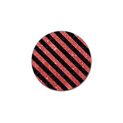 Stripes3 Black Marble & Red Glitter Golf Ball Marker (10 Pack) by trendistuff
