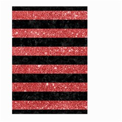 Stripes2black Marble & Red Glitter Large Garden Flag (two Sides) by trendistuff