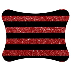 Stripes2black Marble & Red Glitter Jigsaw Puzzle Photo Stand (bow) by trendistuff