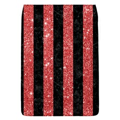 Stripes1 Black Marble & Red Glitter Flap Covers (s)  by trendistuff