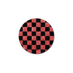 Square1 Black Marble & Red Glitter Golf Ball Marker (10 Pack) by trendistuff