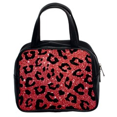 Skin5 Black Marble & Red Glitter (r) Classic Handbags (2 Sides) by trendistuff