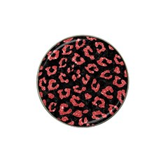 Skin5 Black Marble & Red Glitter Hat Clip Ball Marker by trendistuff