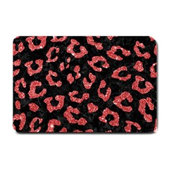 Skin5 Black Marble & Red Glitter Small Doormat
