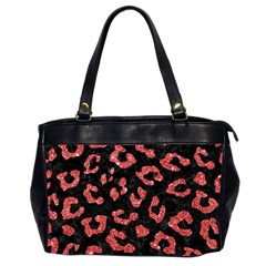 Skin5 Black Marble & Red Glitter Office Handbags (2 Sides)  by trendistuff