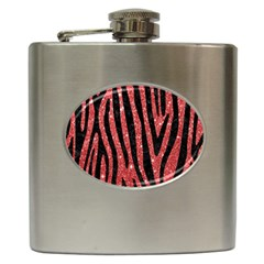 Skin4 Black Marble & Red Glitter (r) Hip Flask (6 Oz) by trendistuff