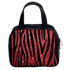 Skin4 Black Marble & Red Glitter (r) Classic Handbags (2 Sides) by trendistuff