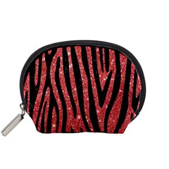 Skin4 Black Marble & Red Glitter (r) Accessory Pouches (small)  by trendistuff
