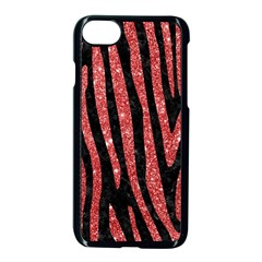 Skin4 Black Marble & Red Glitter Apple Iphone 7 Seamless Case (black) by trendistuff