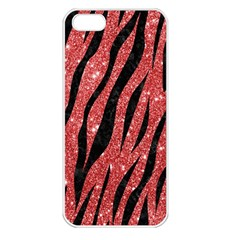 Skin3 Black Marble & Red Glitter Apple Iphone 5 Seamless Case (white) by trendistuff