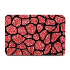 Skin1 Black Marble & Red Glitter (r) Plate Mats by trendistuff