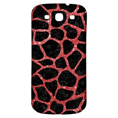 Skin1 Black Marble & Red Glitter Samsung Galaxy S3 S Iii Classic Hardshell Back Case by trendistuff