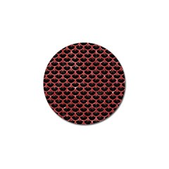 Scales3 Black Marble & Red Glitter (r) Golf Ball Marker (4 Pack) by trendistuff