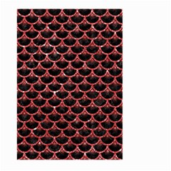 Scales3 Black Marble & Red Glitter (r) Large Garden Flag (two Sides) by trendistuff