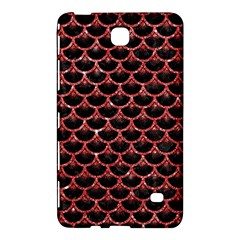 Scales3 Black Marble & Red Glitter (r) Samsung Galaxy Tab 4 (8 ) Hardshell Case  by trendistuff