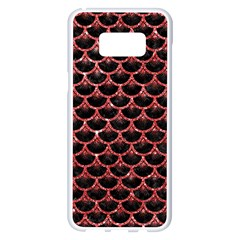 Scales3 Black Marble & Red Glitter (r) Samsung Galaxy S8 Plus White Seamless Case by trendistuff