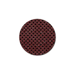 Scales2 Black Marble & Red Glitter (r) Golf Ball Marker (4 Pack) by trendistuff