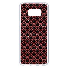 Scales2 Black Marble & Red Glitter (r) Samsung Galaxy S8 Plus White Seamless Case by trendistuff