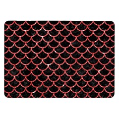 Scales1 Black Marble & Red Glitter (r) Samsung Galaxy Tab 8 9  P7300 Flip Case by trendistuff
