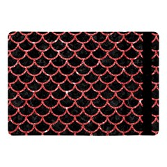 Scales1 Black Marble & Red Glitter (r) Apple Ipad Pro 10 5   Flip Case