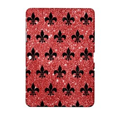 Royal1 Black Marble & Red Glitter (r) Samsung Galaxy Tab 2 (10 1 ) P5100 Hardshell Case  by trendistuff