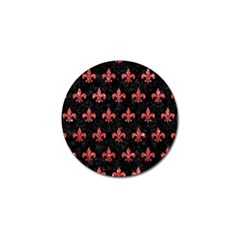 Royal1 Black Marble & Red Glitter Golf Ball Marker (4 Pack) by trendistuff