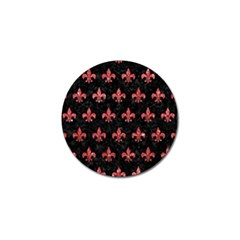 Royal1 Black Marble & Red Glitter Golf Ball Marker (10 Pack) by trendistuff
