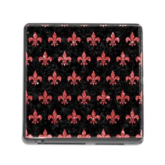 Royal1 Black Marble & Red Glitter Memory Card Reader (square) by trendistuff