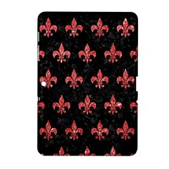Royal1 Black Marble & Red Glitter Samsung Galaxy Tab 2 (10 1 ) P5100 Hardshell Case  by trendistuff