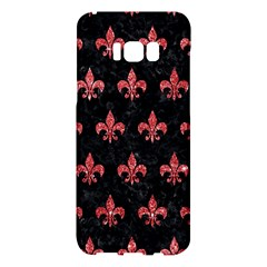 Royal1 Black Marble & Red Glitter Samsung Galaxy S8 Plus Hardshell Case  by trendistuff