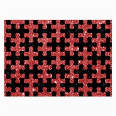 Puzzle1 Black Marble & Red Glitter Large Glasses Cloth by trendistuff