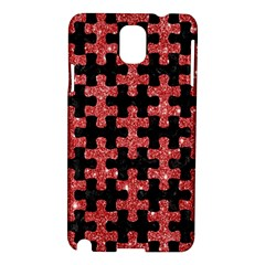 Puzzle1 Black Marble & Red Glitter Samsung Galaxy Note 3 N9005 Hardshell Case by trendistuff