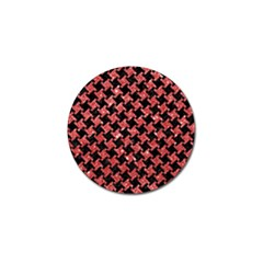 Houndstooth2 Black Marble & Red Glitterhoundstooth2 Black Marble & Red Glitter Golf Ball Marker (4 Pack)