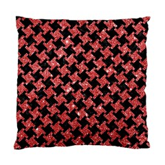 Houndstooth2 Black Marble & Red Glitterhoundstooth2 Black Marble & Red Glitter Standard Cushion Case (one Side) by trendistuff