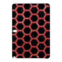 Hexagon2 Black Marble & Red Glitter (r) Samsung Galaxy Tab Pro 12 2 Hardshell Case by trendistuff